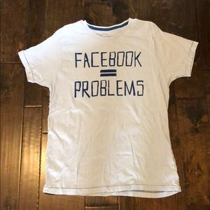 Threads 4 Thoughts - Facebook = Problems Tee - XL